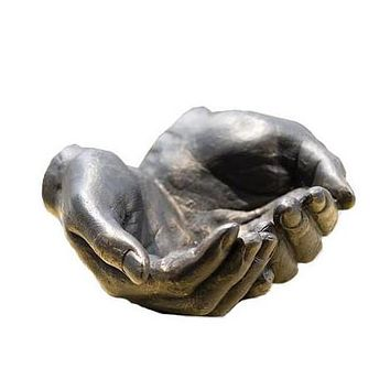 Iron Hand Bowl Sculpture
