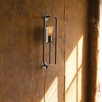 Raw Metal And Brass Wall Lamp