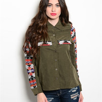 Western Olive Top