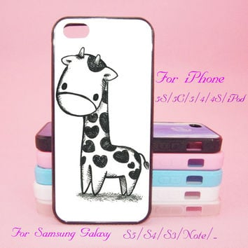 Cute Giraffe,iPod Touch 5,iPad 2/3/4,iPad mini,iPad Air,iPhone 5s/ 5c / 5 /4S/4 , Galaxy S3/S4/S5/S3 mini/S4 mini/S4 active/Note