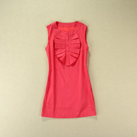 Ruffled Collar Sleeveless A-Line Dress