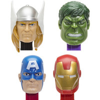 Marvel Avengers PEZ Candy Packs: 12-Piece Display