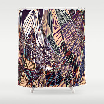 SWEEPING LINE PATTERN I Shower Curtain by Pia Schneider [atelier COLOUR-VISION]
