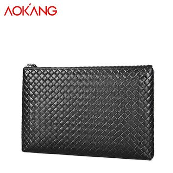 New arrival Genuine leather casual Men clutch bag simple clutch bags pure color Male Bags