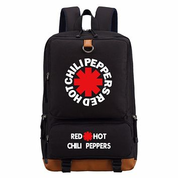 Rock Band Red Hot Chili Peppers backpack teenagers Men women's Kids Student School Bags travel Shoulder Bag Laptop Bags bookbag