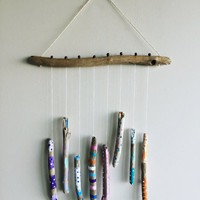 Driftwood Mobile Hanging/ Nursery Mobile/ Baby Mobile/ Hand Painted Driftwood Wall Hanging/ Nursery Decor/ Beach Mobile/ Boho Nursery