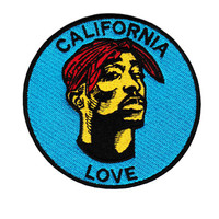 Vintage Style California Love DJ Patch Badge 9cm Hip Hop RAP Turntable Cap Hat