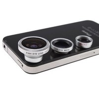 Leegoal(TM) 3 in 1 Camera Lens Kit Designed for Apple iPhone 4 4S iPad (Fish Eye Lens, Wide Angle + Micro Lens)