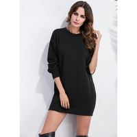 Black Velvet Sweater Dress