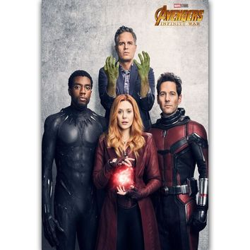 MQ2655 Hot 2018 Film Avengers Infinity War New DC Marvel Movie Hot Art Poster Top Silk Canvas Home Decor Picture Wall Printings