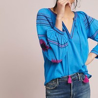 Runaway Embroidered Peasant Top