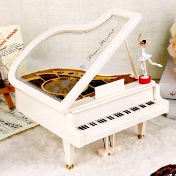 Classical Music Boxes Clockwork Type Rotary Ballerina Girl On The Piano Music Box Gifts