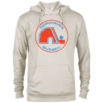 Retro Nordiques Inspired French Terry Hoodie in Oatmeal Heather