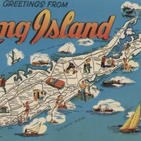 Greetings From Long Island, New York View (12x18 Art Print, Wall Decor Travel Poster)