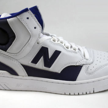 "New Balance® James Worthy P740LA ""LA"" - White/Purple"