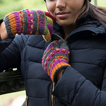 Winter Gloves. These Gloves Make Everybody Smile. Alpaca Wool Gloves, Multi Colored , Full Coverage, Fleece Lining. Warm beautiful wool embroidery.