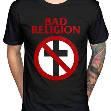 SHIRT BAD RELIGION HARD ROCK PUNK BAND T SHIRT BLACK Men's T-Shirts (S-3XL)