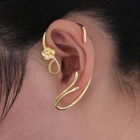 FREE SHIPPING! Inspired by Beauty and the Beast Belle Rose Ear Cuff