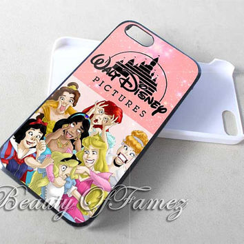 Disney Princess Funny Character for iPhone 4, iPhone 4s, iPhone 5, iPhone 5s, iPhone 5c Samsung Galaxy S3, Samsung Galaxy S4 Case