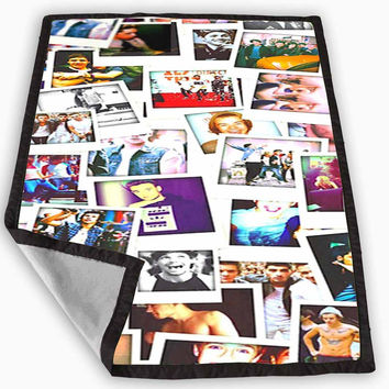 one direction polaroids Blanket for Kids Blanket, Fleece Blanket Cute and Awesome Blanket for your bedding, Blanket fleece **