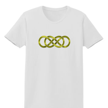Double Infinity Gold Womens T-Shirt