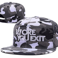 BIYJ Before You Exit Band Embroidery Camouflage Cap Camo Snapback Hat
