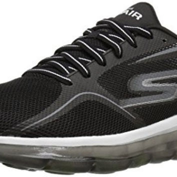 SKECHERS PERFORMANCE MENS GO AIR 2 WALKING SHOE, BLACK/WHITE, 12.5 M US