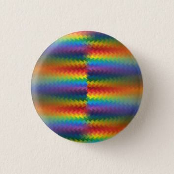 Rows of a Rainbow Fire Pinback Button