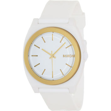 Nixon Men's A1191297-00 White Plastic Quartz Watch with White Dial