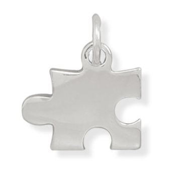 Sterling Silver Puzzle Piece Charm