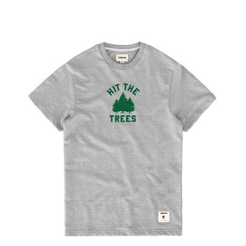 Hit The Trees French Terry Tee Heather Grey