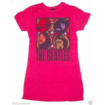 Junk Food The Beatles Faces Squares Womens T-Shirt