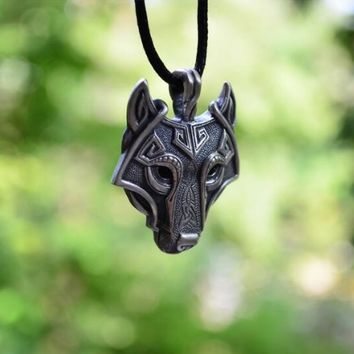 Jewelry Necklaces 1pcs Pendant lace Norse Wolf