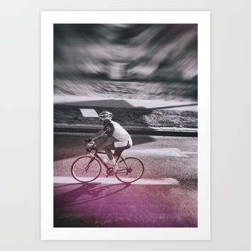 street photo CYCLING #street #photo Art Print by jbjart