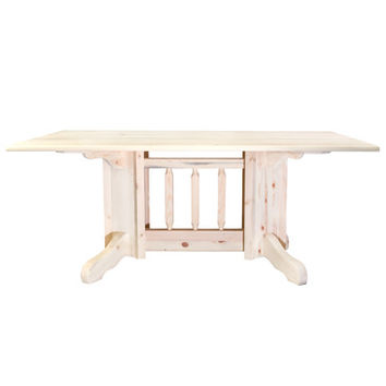 Montana Woodworks Homestead Double Pedestal Dining Table Lacquered