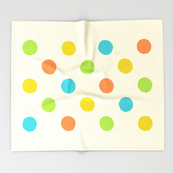 Colorful polka dot pattern Throw Blanket by Natalia Bykova | Society6