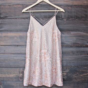 shine bright like a diamond mini dress - embellished rose gold c07bb7168