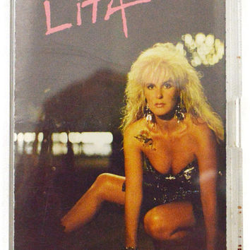 Vintage 80s Lita Ford Lita Heavy Glam Metal Album Cassette Tape