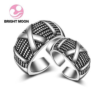 Genuine 925 Sterling Silver Ring Jewelry for women\Cool Men Punk Vintage Thai silver Ring Fine Jewelry big sizes Gifts JZ-145