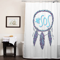 5 Second Of Summer dreamcatcher custom shower curtain