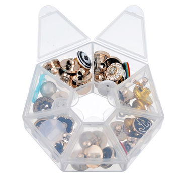 2PCs 7 Lattices Plastic Storage Box Case For Beads Jewelry Display Acrylic Organizer Container Box For Jewelry