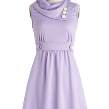 ModCloth Pastel Mid-length Sleeveless A-line Coach Tour Dress in Lavender