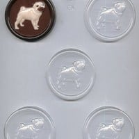 CK Products Pug on 2-1/2-Inch Round Chocolate Mold