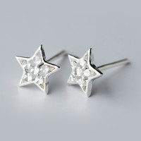 Lovely stars 925 Sterling Silver Earrings, a perfect gift