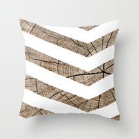 Tree Rings Throw Pillow by Tyler Foley