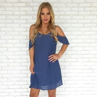All Year Round Skater Dress In Blue