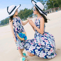 Family Matching Outfits Mother Daughter Dresses Mom and Daughter Dress Clothes Holiday Family Clothing Beach Family Set HS9