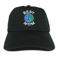 World's Best Mom Embroidered 100% Cotton Adjustable Baseball Dad Cap Style Hat