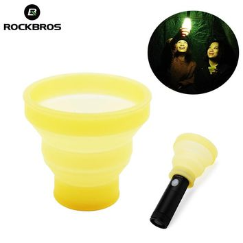 ROCKBROS Outdoor Tools Multifunction Lamp Shade Hiking Camping Tent Hanging Light Cover Foldable Soft Lampshade Bike Light Cover