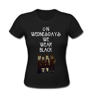 American Horror Story Coven On Wednesdays We Wear Black woman T Shirt - S M L XL